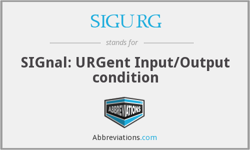 What does SIGURG stand for?