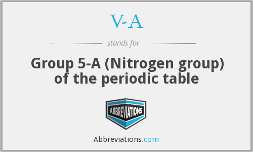 V-A - Group 5-A (Nitrogen group) of the periodic table
