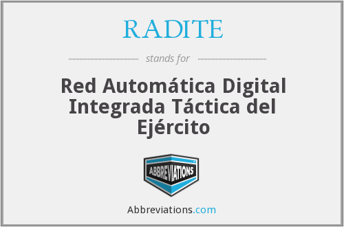 RADITE - Red Automática Digital Integrada Táctica del Ejército