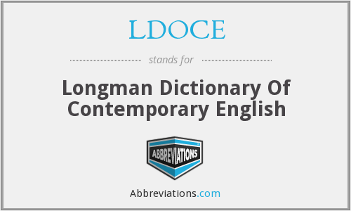 What does LDOCE stand for?