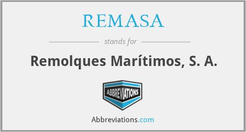 REMASA - Remolques Marítimos, S. A.