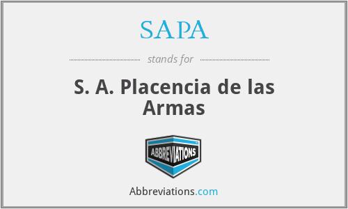 SAPA - S. A. Placencia de las Armas