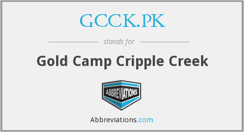GCCK.PK - Gold Camp Cripple Creek
