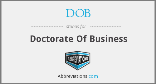 DOB - Doctorate Of Business