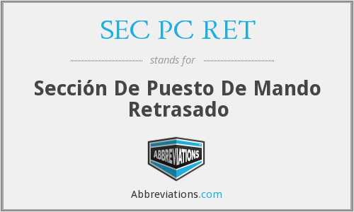 What does SEC PC RET stand for?