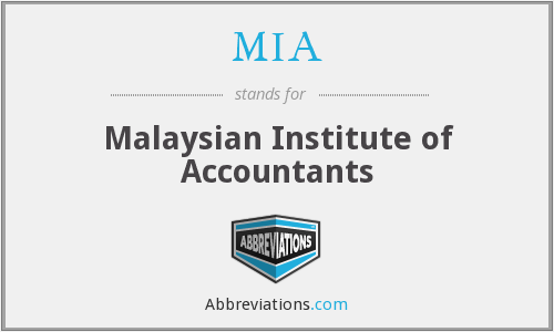 MIA - Malaysian Institute of Accountants