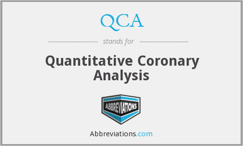 QCA - Quantitative Coronary Analysis