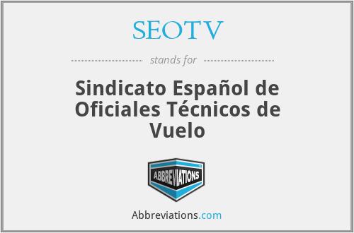 SEOTV - Sindicato Español de Oficiales Técnicos de Vuelo