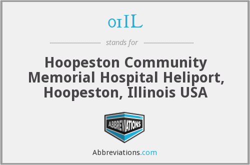 01IL - Hoopeston Community Memorial Hospital Heliport, Hoopeston, Illinois USA