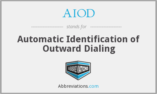 AIOD - Automatic Identification of Outward Dialing