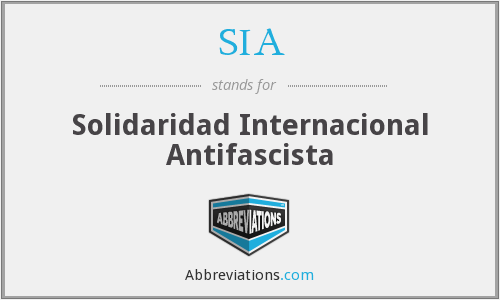 SIA - Solidaridad Internacional Antifascista