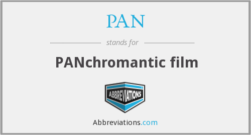 PAN - PANchromantic film