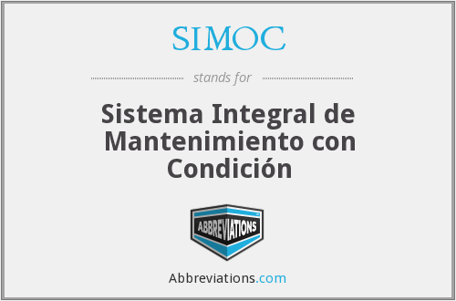 SIMOC - Sistema Integral de Mantenimiento con Condición