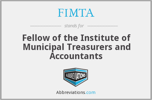 What does FIMTA stand for?