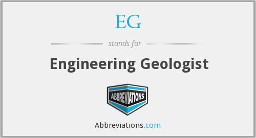 EG - Engineering Geologist