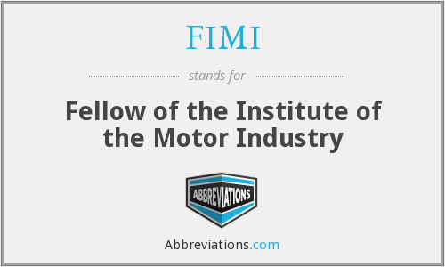 FIMI - Fellow of the Institute of the Motor Industry