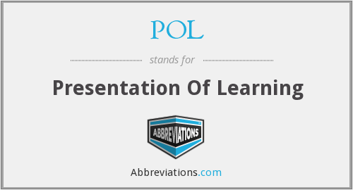 POL - Presentation Of Learning