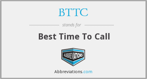 BTTC - Best Time To Call