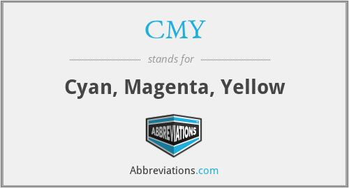 CMY - Cyan, Magenta, Yellow