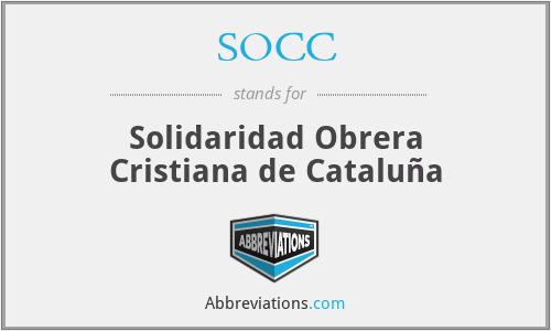 SOCC - Solidaridad Obrera Cristiana de Cataluña