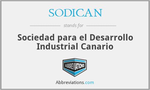 SODICAN - Sociedad para el Desarrollo Industrial Canario