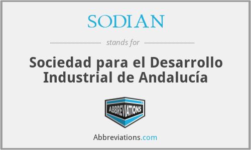 SODIAN - Sociedad para el Desarrollo Industrial de Andalucía