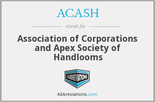 ACASH - Association of Corporations and Apex Society of Handlooms