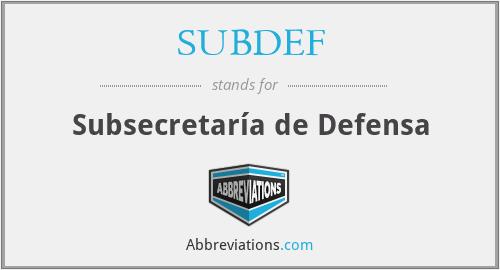SUBDEF - Subsecretaría de Defensa