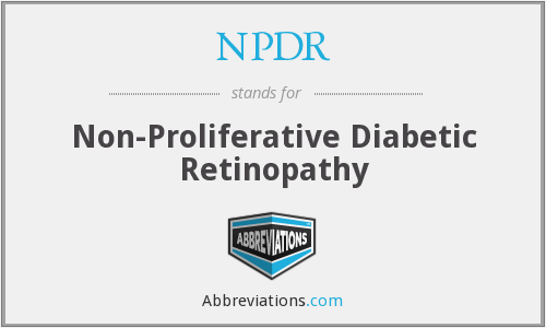 NPDR - Non-Proliferative Diabetic Retinopathy