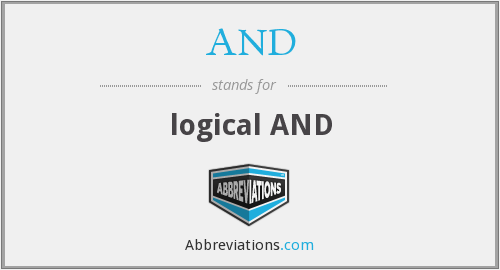 AND - logical AND