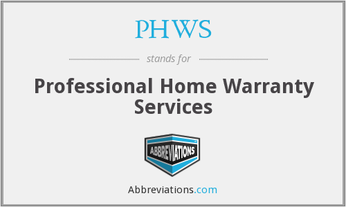 PHWS - Professional Home Warranty Services