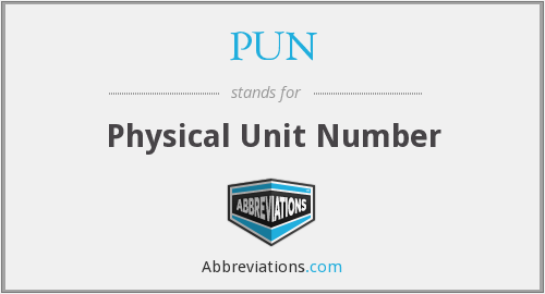 PUN - Physical Unit Number
