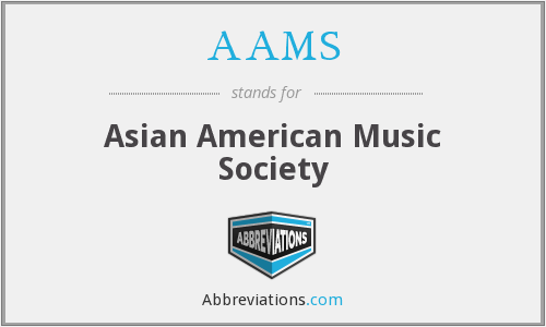 AAMS - Asian American Music Society