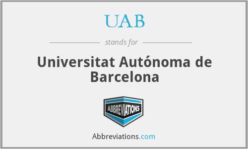 UAB - Universitat Autónoma de Barcelona