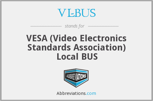 VL-BUS - VESA (Video Electronics Standards Association) Local BUS