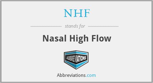 NHF - Nasal High Flow