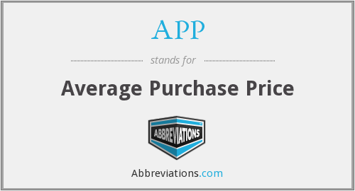 APP - Average Purchase Price
