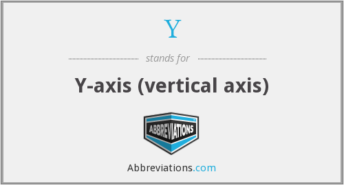 Y - Y-axis (vertical axis)
