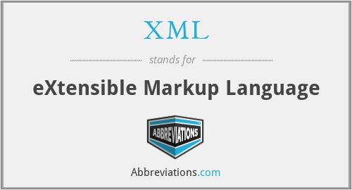 XMl - eXtensible Markup Language