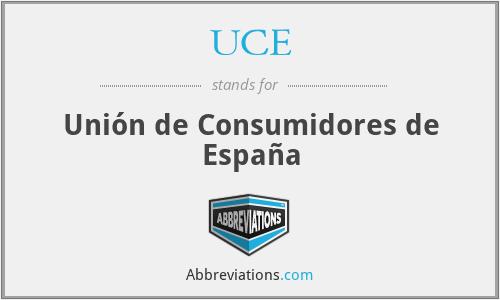 UCE - Unión de Consumidores de España