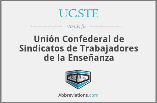 UCSTE - Unión Confederal de Sindicatos de Trabajadores de la Enseñanza