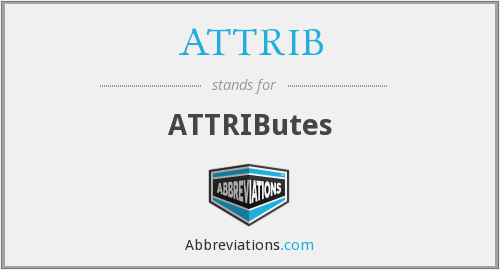 ATTRIB - ATTRIButes