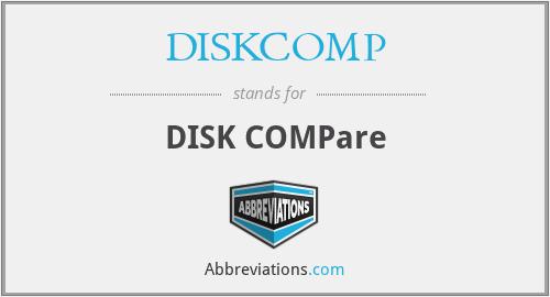 DISKCOMP - DISK COMPare