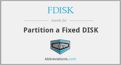 FDISK - Partition a Fixed DISK