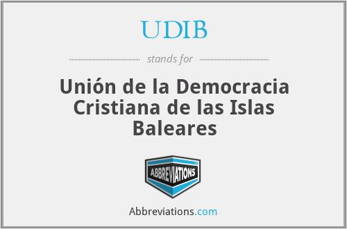UDIB - Unión de la Democracia Cristiana de las Islas Baleares
