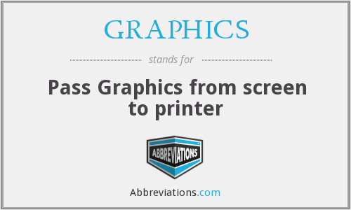 GRAPHICS - Pass Graphics from screen to printer