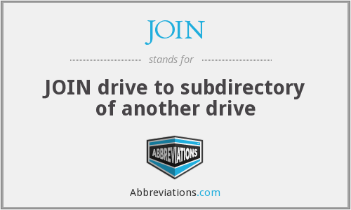 JOIN - JOIN drive to subdirectory of another drive