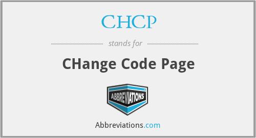 CHCP - CHange Code Page