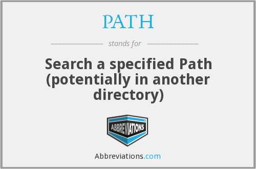 PATH - Search a specified Path (potentially in another directory)