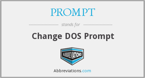 PROMPT - Change DOS Prompt